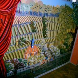 Illusionsmalerei Weinberg in Gemeinschaftsarbeit in Dresden