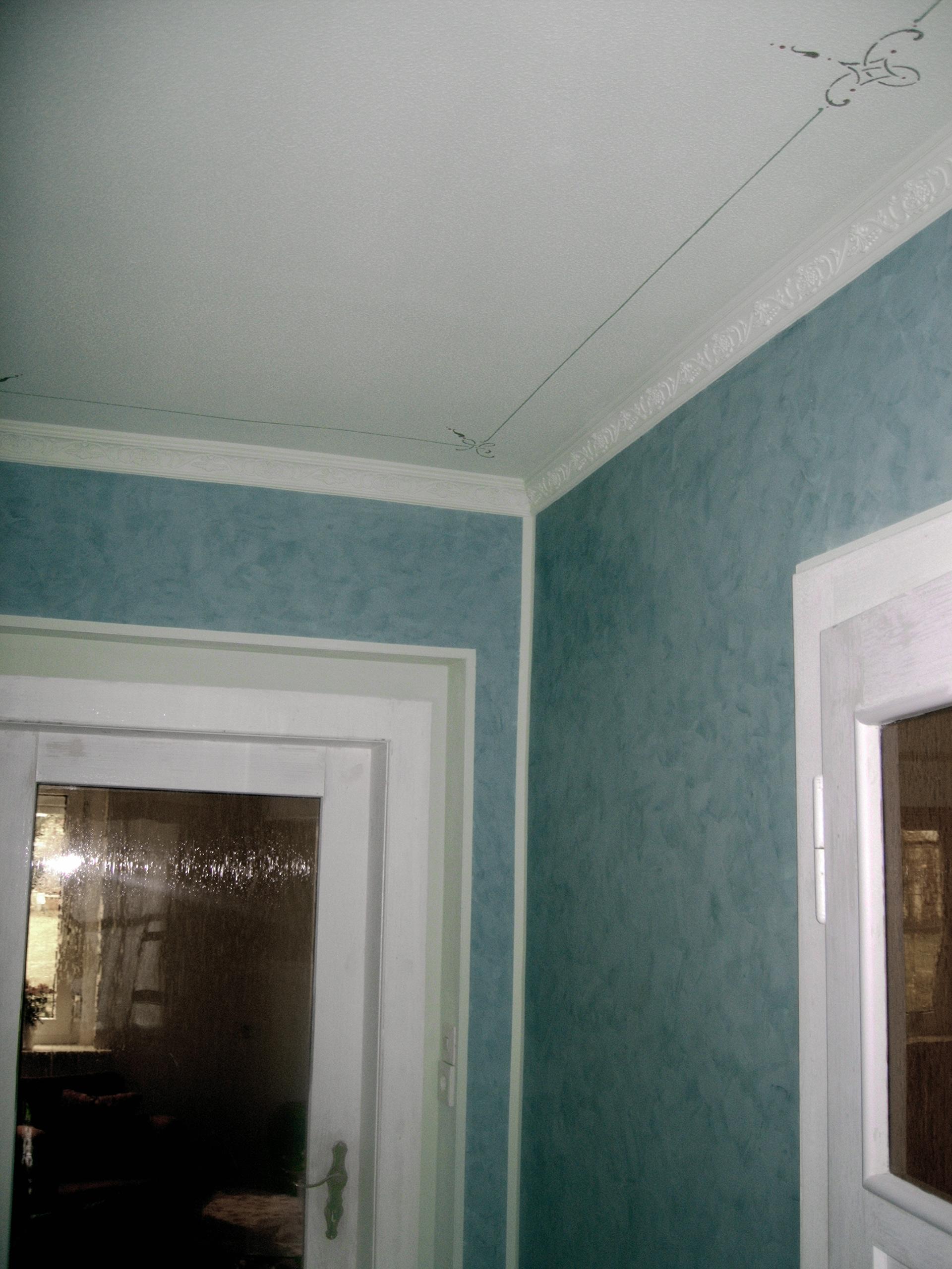 tapezierarbeiten und malerarbeiten individuell mit spachteltechnik strukturvliestapete. Black Bedroom Furniture Sets. Home Design Ideas