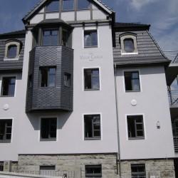 Fassadenanstrich und Schriftmalerei in Dresden