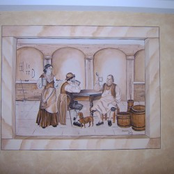 Wandmalerei Gaststätte zur Böttcherei in Quatitz