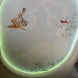 Deckenmalerei Kinderzimmer mit Beleuchtung