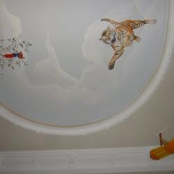 Stuckarbeiten, Deckenmalerei Kinderzimmer