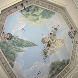 """Deckenmalerei """"Engel"""" und Stuckarbeiten"""