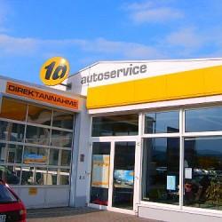 Fassadenanstrich und Schriftmalerei am Opel Autohaus Hohlfeld