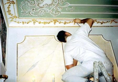 Vergoldungsarbeiten in Dresden (Meisterausbildung)